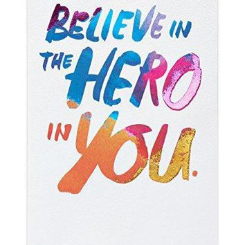 American Greetings Hero Thinking of You Card with Foil - Funny birthday card - Free Shipping