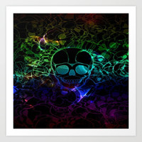 COLORFUL SKULL Art Print by Acus