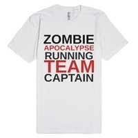 Zombie Apocalypse Running Team Captain Shirt-Unisex White T-Shirt
