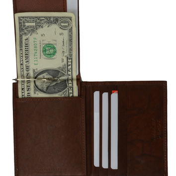 MONEY CLIP CREDIT CARD LEATHER WALLET