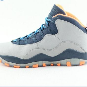 "[Free Shipping ]Air Jordan 10 Retro ""Bobcats"" GS Athletic Fashion Sneaker 310806 026 Basketball Sneaker"