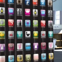 Iphone Shower Curtain With Iphone Apps