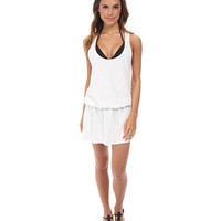 Splendid Sunblock Solids Dress Cover-Up White - 6pm.com