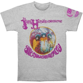 Jimi Hendrix Men's  Experience 50th T-shirt Heather