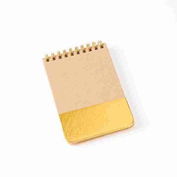 Gold Kraft Wired Notepad