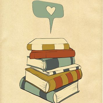 Reading Print Art I READ 8x10 Books Love Poster by ParadaCreations