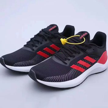 ADIDAS CF Lite Racer stylish men's sneakers with breathable mesh, matching color and shock absorption
