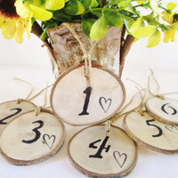 Table Wedding Numbers, Reception Table, Rustic Table Numbers, Table Numbers, Wedding Table Numbers