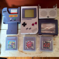 Vintage Nintendo Gameboy with games and more.