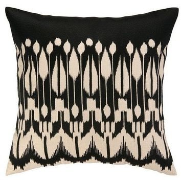 Lomita Black Ikat Pillows