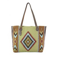 MZ Peacock Fair Trade Wool Tote Bag