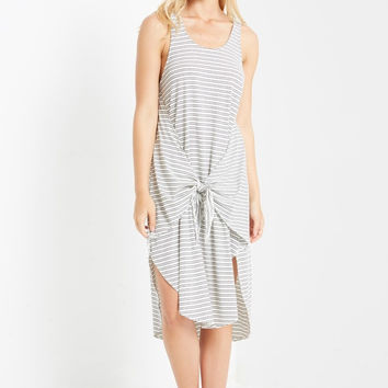Movement Striped Midi Dress
