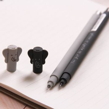 Japanese Cute Kawaii Animal Elephant 0.35mm Black Ink Gel Pen Student Boys Writing School Supply Office Accessory Stationery