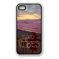 Change Good Vibes Hipster Quote iPhone 5 Case Fits iPhone 5