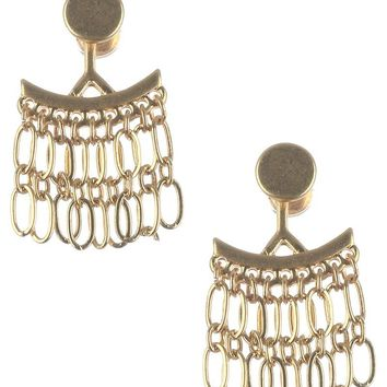 Earring Jackets - Silver or Gold