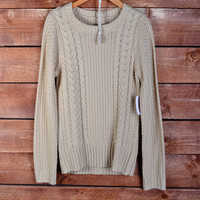 School Girl Sweater - Taupe