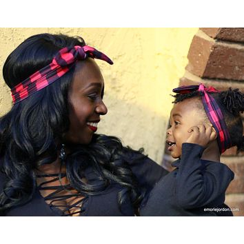 Mommy and Me Checkered Headbands