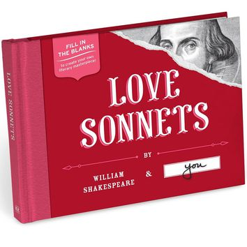 Love Sonnets by William Shakespeare and You Journal