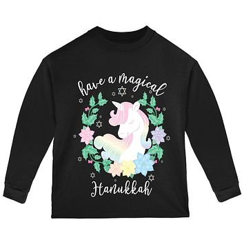 Have a Magical Hanukkah Unicorn Toddler Long Sleeve T Shirt