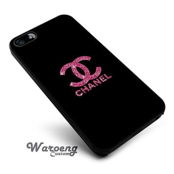 Pink Glitter Sparkly Chanel iPhone 4s iphone 5 iphone 5s iphone 6 case, Samsung s3 samsung s4 samsung s5 note 3 note 4 case, iPod 4 5 Case