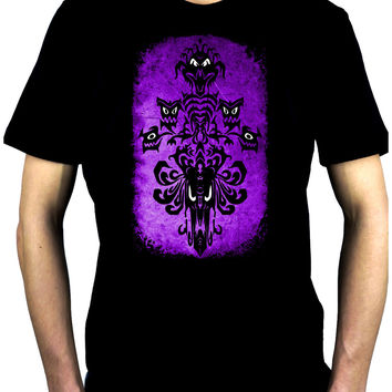 Haunted Mansion Wallpaper Ghoul Men's T-Shirt Alternative Gothic Clothing