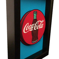 Coca-Cola Art Classic Coke Button Soda Pop Bottle 3D Pop Art