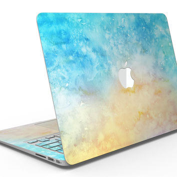 Washed Ocean 42 Absorbed Watercolor Texture - MacBook Air Skin Kit