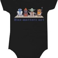Star Wars Size Matters Not Snapsuit Infant Onesuit Baby Romper - Star Wars - | TV Store Online