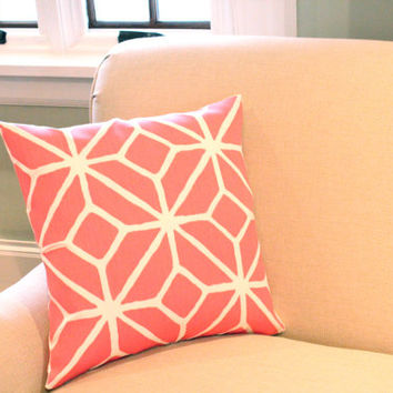 Trina Turk Trellis Outdoor Pillow Cover in Watermelon Pink