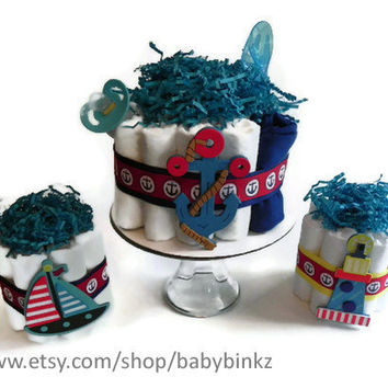 Diaper Cake Party Pack  Nautical Anchor Boat & by BabyBinkz
