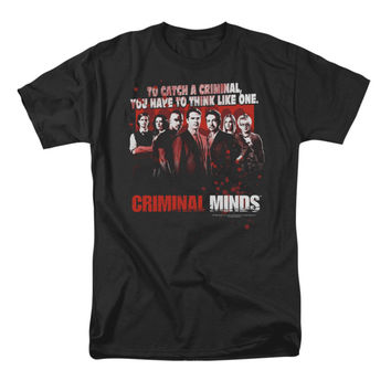 Criminal Minds Men's  Think Like One T-shirt Black Rockabilia