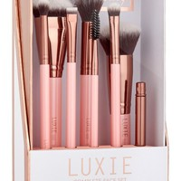 Luxie Rose Gold Complete Face Brush Set | Nordstrom
