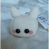 Raw Baby Tofu Bunny Plush Keychain by quacked on Etsy