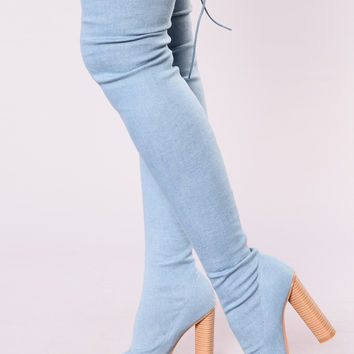 Pump It Up Boot - Denim Blue