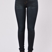 Keep It On The Hush Jeans - Dark