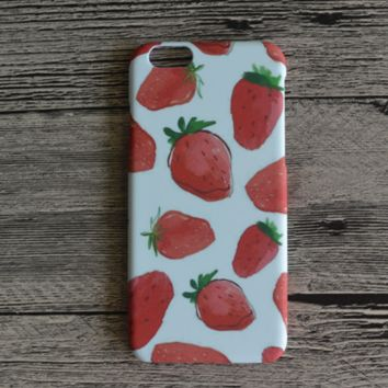 Strawberry Printed Hard Case Cover for iPhone