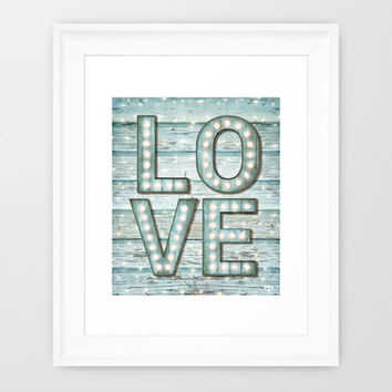 Love is the Light of Your Soul (LOVE lights II) Framed Art Print by soaring anchor designs ⚓ | Society6