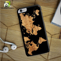World Map Wood iPhone 6S Plus case by Avallen