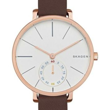 Skagen | Women's Hagen Leather Strap Watch