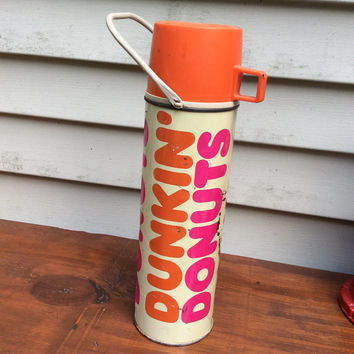 Vintage Dunkin Donuts Thermos|| Coffee Thermos