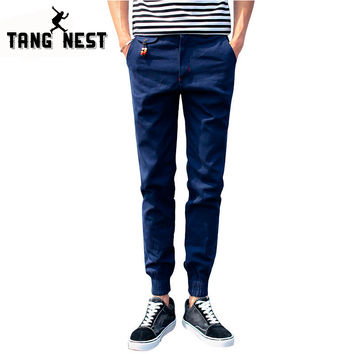 Autumn 2017 New Top Man's Ankle-length Ninth Pants Casual Fashional Men Pants Beam Foot Comfortable Trousers For Male MKX537