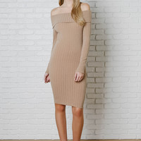 Rita Off-The-Shoulder Midi Dress