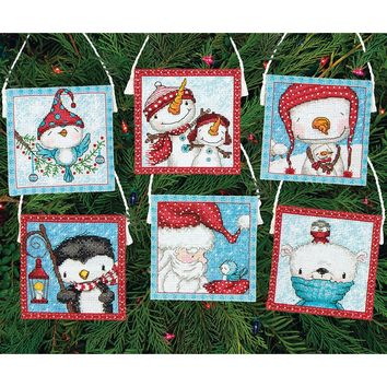 Frosty Friends Ornaments (16 Count) Dimensions Counted Cross Stitch Kit