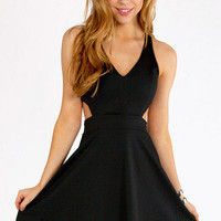 Cut Out V-Tank Skater Dress $33