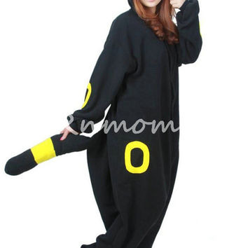KIGURUMI Cosplay Romper Charactor animal Hooded Night Adult clothes Pajamas Pyjamas Costume sloth  outfit Sleepwear-Umbreon