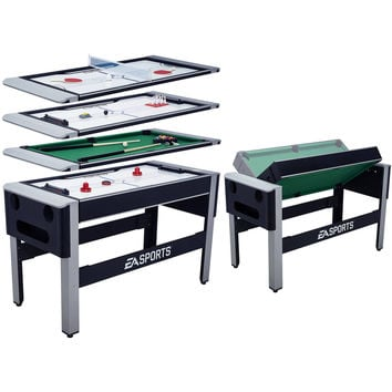 EA SPORTS 4-in-1 Swivel Hockey, Table Tennis, Bowling, Billiard, Pool Game Table