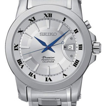 Seiko Mens Premier Perpetual Calendar Watch - Stainless Case & Bracelet