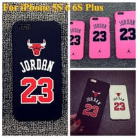 "No.23 Jordan Basketball PC Cover Case For Apple iPhone 5 5s 6 6S 4.7"" 6 plus 5.5"" Jumpman Sports Phone Cases Pink Black White"