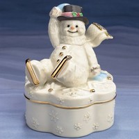 Winter Wonderland Snowman Keepsake Box by Lenox from Lenox