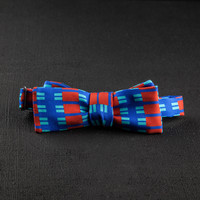 Charles Olive Boswell Bow Tie - Red/Blue | Darkroom
